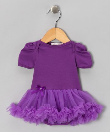 Purple Ruffle Skirted Bodysuit - Infant