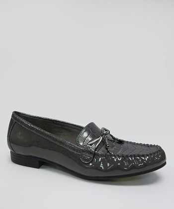 Gray Patent Mallory Loafer