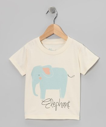 Natural 'Elephant' Organic Tee - Toddler & Kids