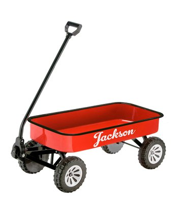 Red Personalized Wagon
