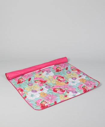 Floral Strawberry Shortcake Zip-Up Mat