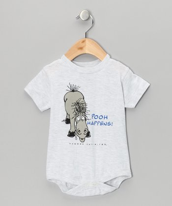 Light Gray 'Pooh Happens' Bodysuit - Infant