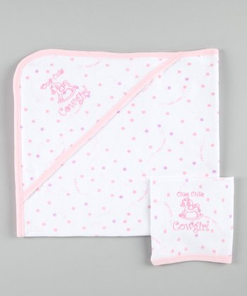 Pink Cowgirl Towel & Burp Cloth