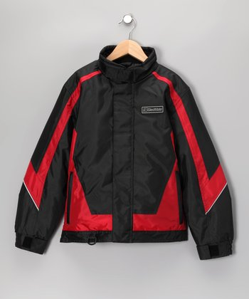 Red & Black Sledmate XT Series Jacket - Boys