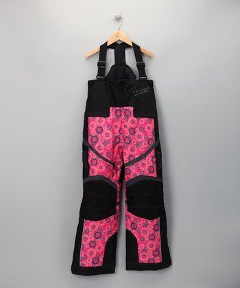 Pink Circles Bib Pants - Toddler & Girls