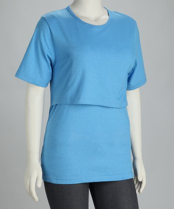 Mothers Source Peacock Blue Nursing Tee
