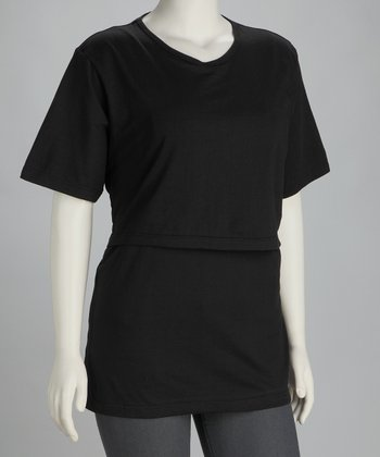 Mothers Source Black Nursing Tee