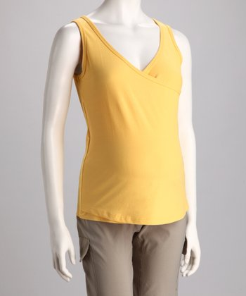 Sun Yellow Lumni Maternity & Nursing Tank