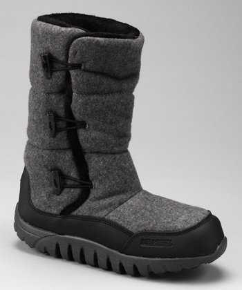 Gray Lisa Wool Boot