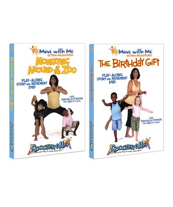 Move with Me The Birthday Gift & Monkeying at the Zoo DVD Set