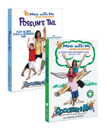 Possum's Tail & Scooter & Me Yoga Heart Yoga DVD Set
