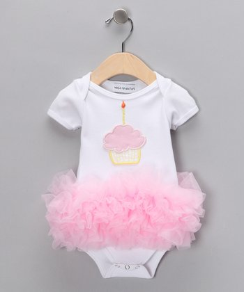Light Pink Cupcake Tutu Bodysuit - Infant