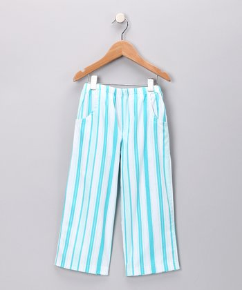 Aqua Stripe Pants - Infant & Boys