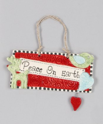 'Peace on Earth' Door Plaque