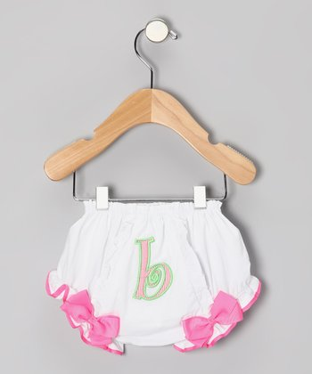 Hot Pink 'B' Bloomers - Infant