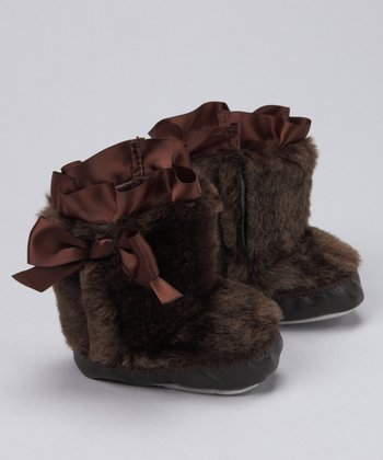Brown Faux Fur Boots - Infant