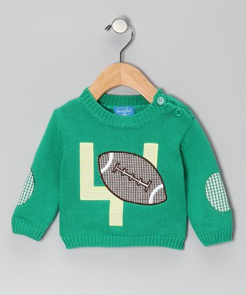 Green Football Appliqué Sweater - Infant
