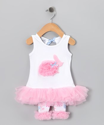 Pink Bunny Tunic & Leggings - Infant