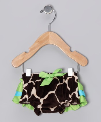 Green & Blue Giraffe Bloomers - Infant