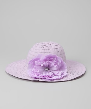 Purple Flower Sunhat