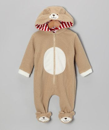 Light Brown Bear Footie - Infant