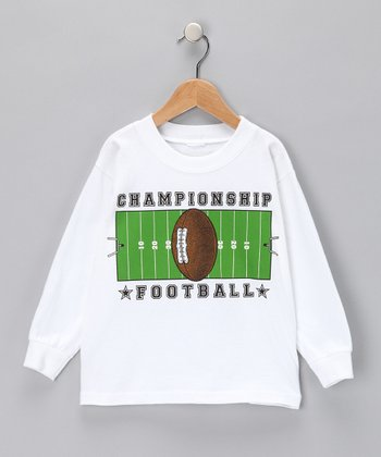 White 'Championship Football' Tee - Boys