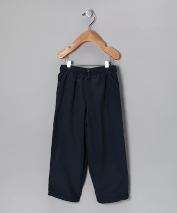 Navy Pullover Pants - Toddler & Boys