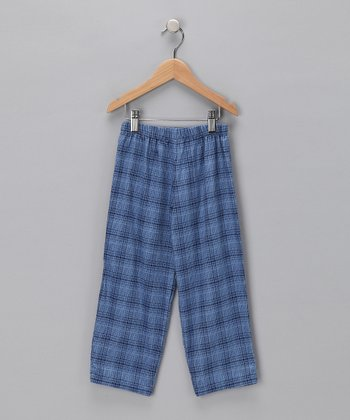 Blue Plaid Pants - Infant & Toddler