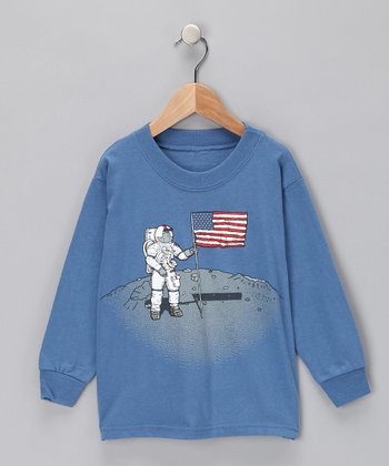 Blue Man On Moon Tee - Toddler & Boys