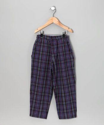 Captain Blue Plaid Pants - Infant, Toddler & Boys