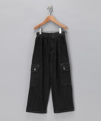 Gray Denim Cargo Pants - Infant, Toddler & Boys