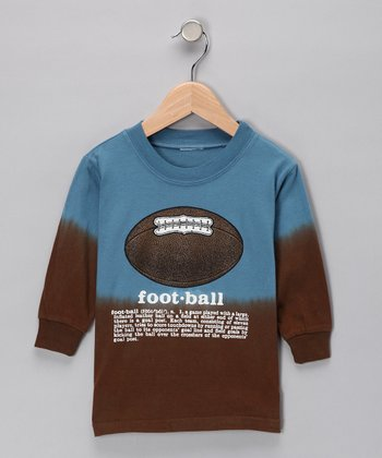 Slate Football Dip-Dye Tee - Boys