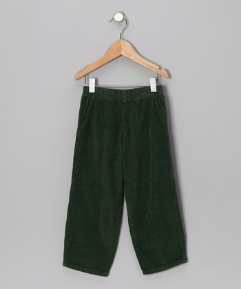 Forest Green Corduroy Pants - Infant, Toddler & Boys