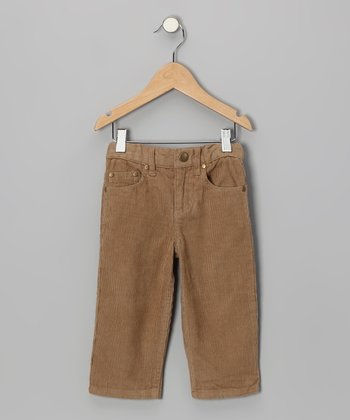 Tan Organic Corduroy Pants - Toddler & Boys