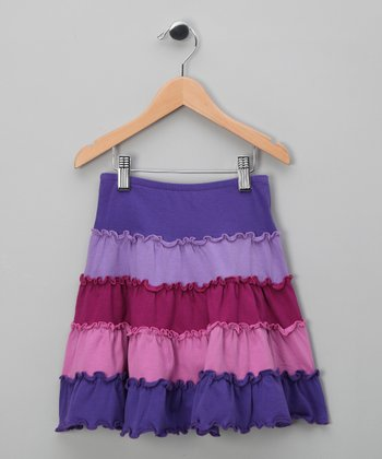 Purple Tiered Skirt - Toddler & Girls