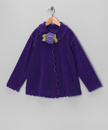 Purple Rosette Swing Jacket - Infant & Girls