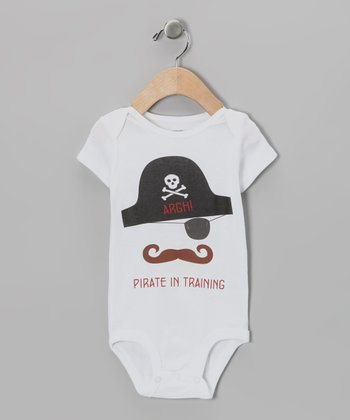White 'Pirate in Training' Bodysuit - Infant