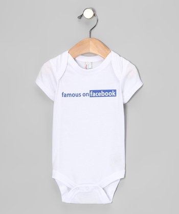 White 'Famous on Facebook' Bodysuit - Infant