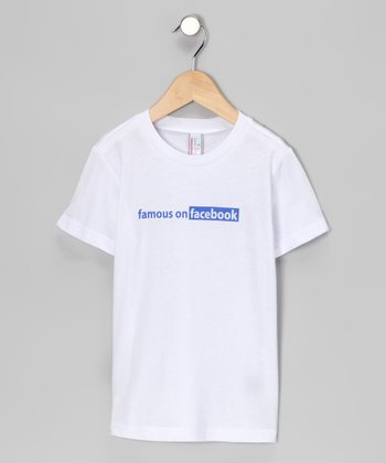 White 'Famous on Facebook' Tee - Infant, Toddler & Kids