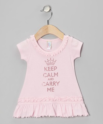 Baby Pink 'Keep Calm' Dress - Infant