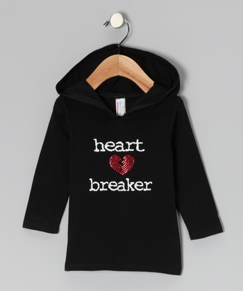 Black 'Heartbreaker' Hoodie - Infant, Toddler & Girls
