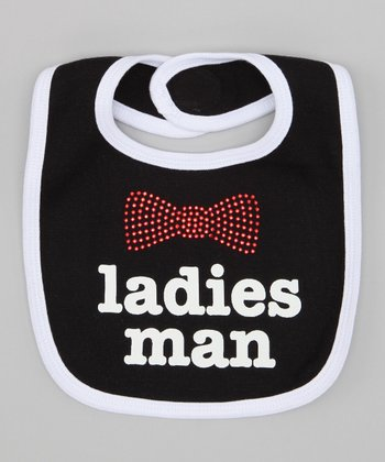 Black & White 'Ladies Man' Bib