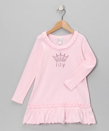 Baby Pink Personalized Crown Dress - Infant, Toddler & Girls