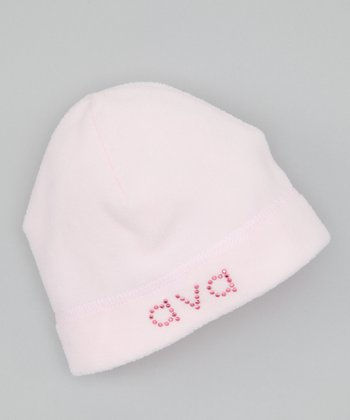 Baby Pink Personalized Fleece Beanie