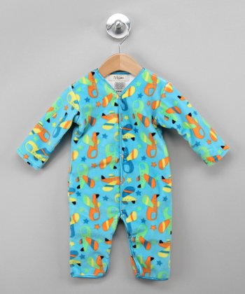 Turquoise Star Plane Playsuit - Infant