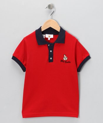 Red & Blue Polo - Infant, Toddler & Boys