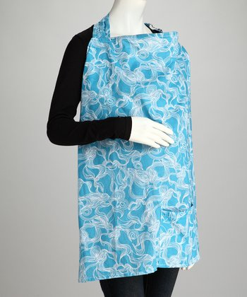 Aqua Dreamy Nursing Cover