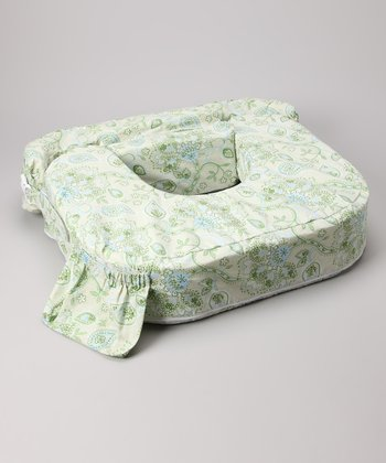 Green Paisley Twin Pillow Cover