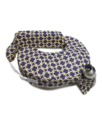 Blue & Gold Marina Nursing Pillow & Cover