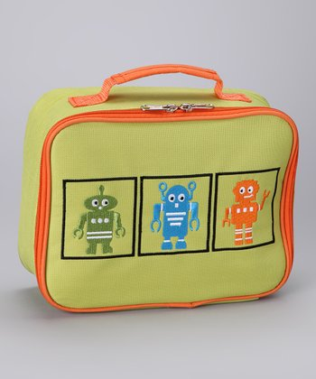 My Cocolime Green Rusty Robots Lunch Bag